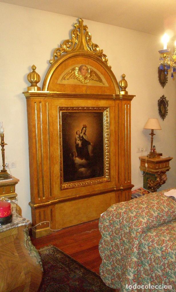 RETABLO ANTIGUO ORIGINAL IDEAL PARA CAPILLA, IGLESIA O SACRISTÍA. (Arte - Arte Religioso - Retablos)