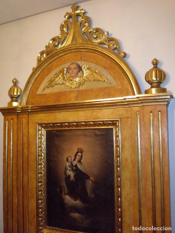 Arte: RETABLO ANTIGUO ORIGINAL IDEAL PARA CAPILLA, IGLESIA O SACRISTÍA. - Foto 3 - 67359269