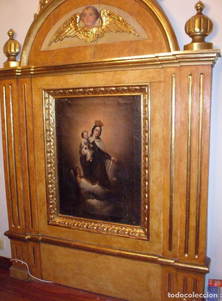 Arte: RETABLO ANTIGUO ORIGINAL IDEAL PARA CAPILLA, IGLESIA O SACRISTÍA. - Foto 4 - 67359269