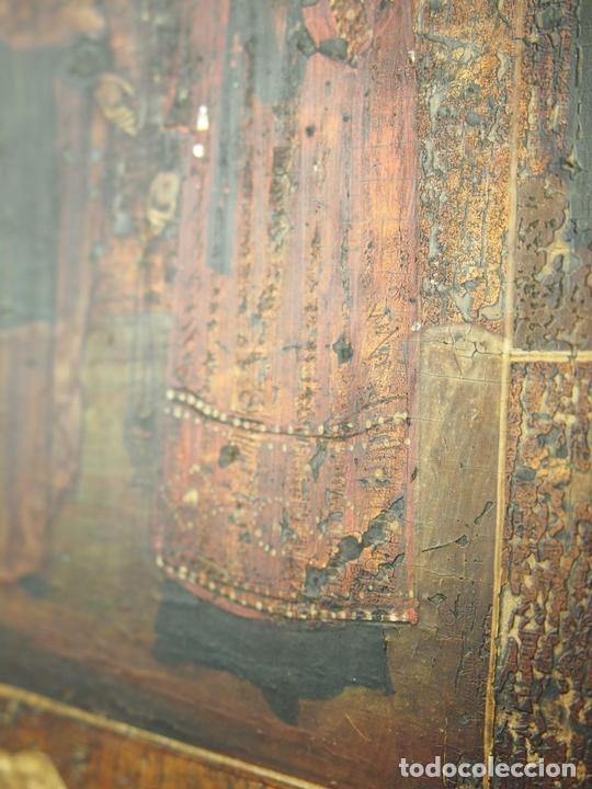 Arte: ICONO GRIEGO. SANTOS. ÓLEO SOBRE TABLA. SIGLO XIX. - Foto 15 - 46781738