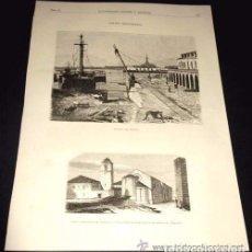 Arte: ILUSTRACION GALLEGA Y ASTURIANA. FERROL. ARSENAL. / SANTIAGO IGLESIA CONSTITUCION CIRCA 1880. Lote 67715521
