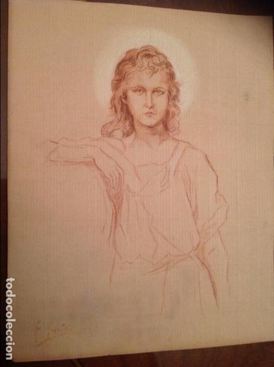 FELIZ YUSTE. FIGURA RELIGIOSA. PINTOR DE ALCALÁ DE HENARES. (Arte - Arte Religioso - Pintura Religiosa - Otros)