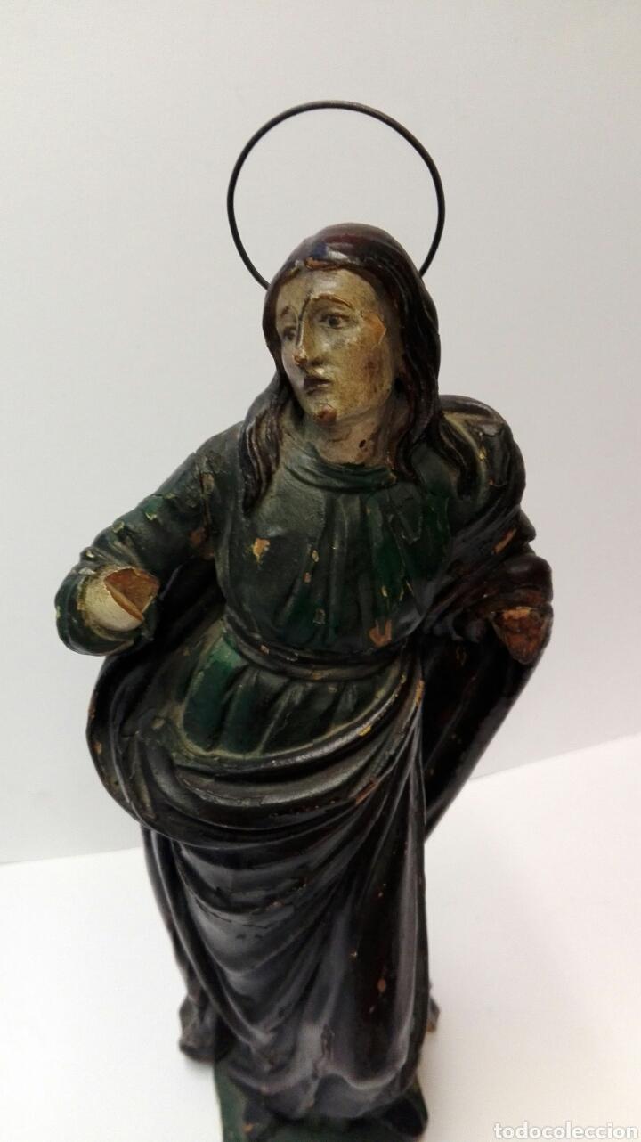 TALLA DE LA VIRGEN MARÍA DEL SIGLO XVIII TAL CUAL. (Arte - Arte Religioso - Escultura)