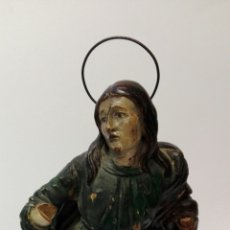 Arte: TALLA DE LA VIRGEN MARÍA DEL SIGLO XVIII TAL CUAL.. Lote 67915550