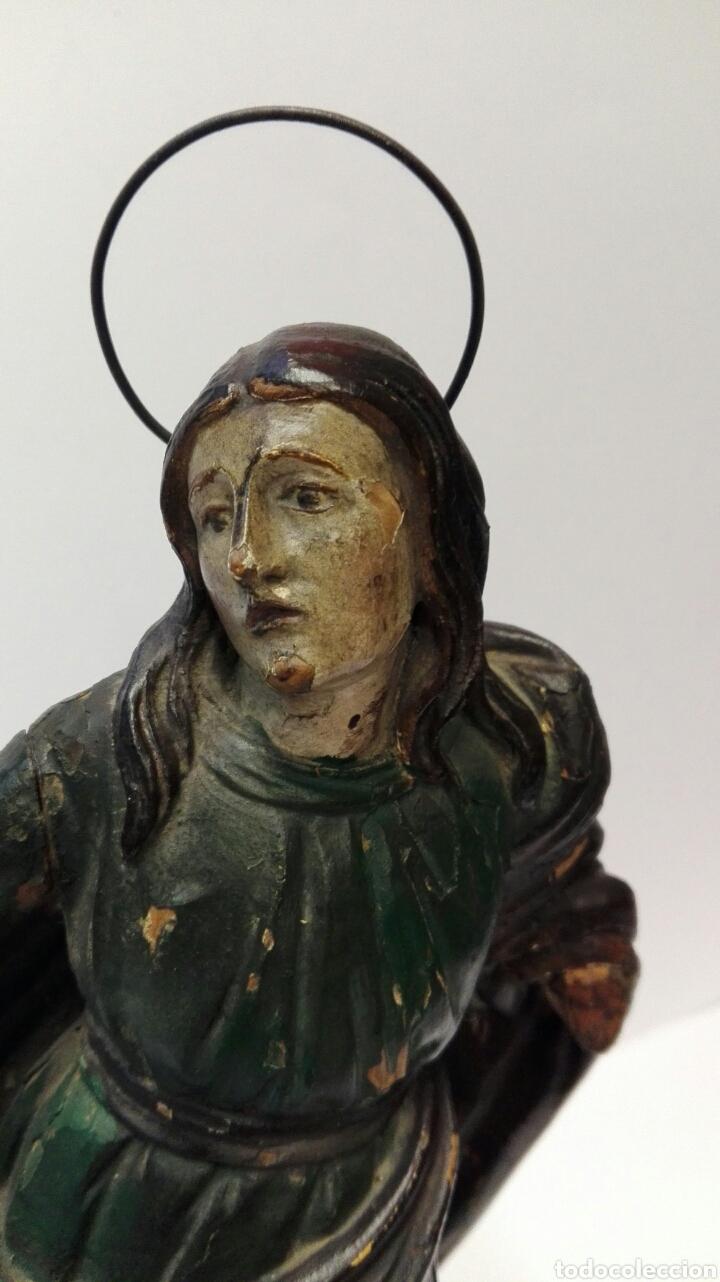 Arte: Talla de la Virgen María del siglo XVIII tal cual. - Foto 2 - 67915550
