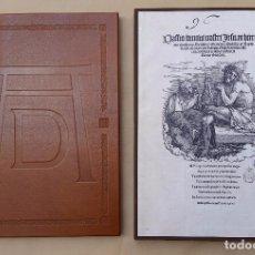 Arte: DURERO - GRABADOS FACSIMIL - LA GRAN PASIÓN - GRAN FORMATO - EDICIÓN NUMERADA CM EDITORES. Lote 68009605