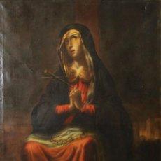 Arte: F3-028. VIRGEN DE LA DOLOROSA. ESCUELA ESPAÑOLA. OLEO SOBRE LIENZO. SIGLO XVII.. Lote 50187135