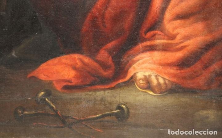 Arte: F3-028. VIRGEN DE LA DOLOROSA. ESCUELA ESPAÑOLA. OLEO SOBRE LIENZO. SIGLO XVII. - Foto 4 - 50187135