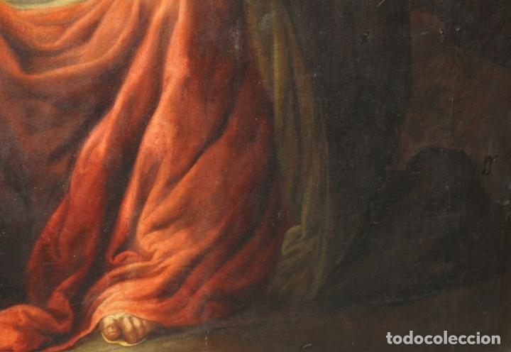 Arte: F3-028. VIRGEN DE LA DOLOROSA. ESCUELA ESPAÑOLA. OLEO SOBRE LIENZO. SIGLO XVII. - Foto 6 - 50187135