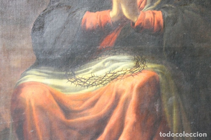 Arte: F3-028. VIRGEN DE LA DOLOROSA. ESCUELA ESPAÑOLA. OLEO SOBRE LIENZO. SIGLO XVII. - Foto 7 - 50187135