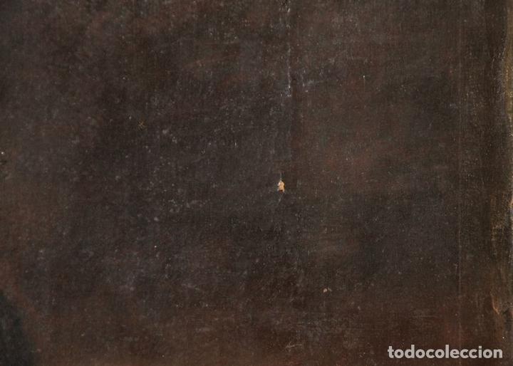Arte: F3-028. VIRGEN DE LA DOLOROSA. ESCUELA ESPAÑOLA. OLEO SOBRE LIENZO. SIGLO XVII. - Foto 8 - 50187135