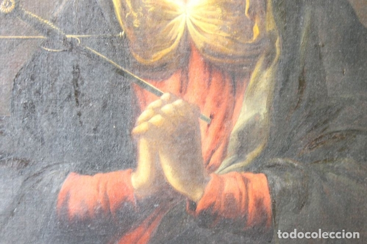 Arte: F3-028. VIRGEN DE LA DOLOROSA. ESCUELA ESPAÑOLA. OLEO SOBRE LIENZO. SIGLO XVII. - Foto 9 - 50187135