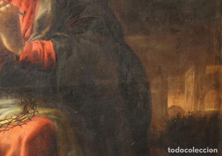 Arte: F3-028. VIRGEN DE LA DOLOROSA. ESCUELA ESPAÑOLA. OLEO SOBRE LIENZO. SIGLO XVII. - Foto 10 - 50187135