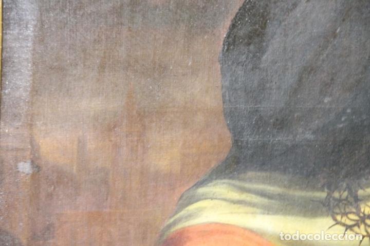 Arte: F3-028. VIRGEN DE LA DOLOROSA. ESCUELA ESPAÑOLA. OLEO SOBRE LIENZO. SIGLO XVII. - Foto 11 - 50187135