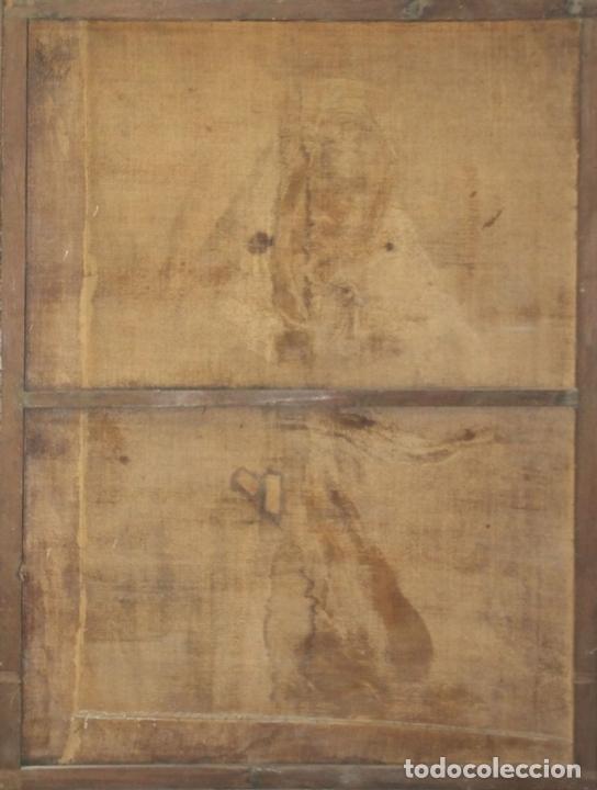 Arte: F3-028. VIRGEN DE LA DOLOROSA. ESCUELA ESPAÑOLA. OLEO SOBRE LIENZO. SIGLO XVII. - Foto 12 - 50187135