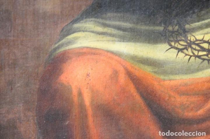 Arte: F3-028. VIRGEN DE LA DOLOROSA. ESCUELA ESPAÑOLA. OLEO SOBRE LIENZO. SIGLO XVII. - Foto 13 - 50187135