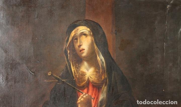Arte: F3-028. VIRGEN DE LA DOLOROSA. ESCUELA ESPAÑOLA. OLEO SOBRE LIENZO. SIGLO XVII. - Foto 14 - 50187135