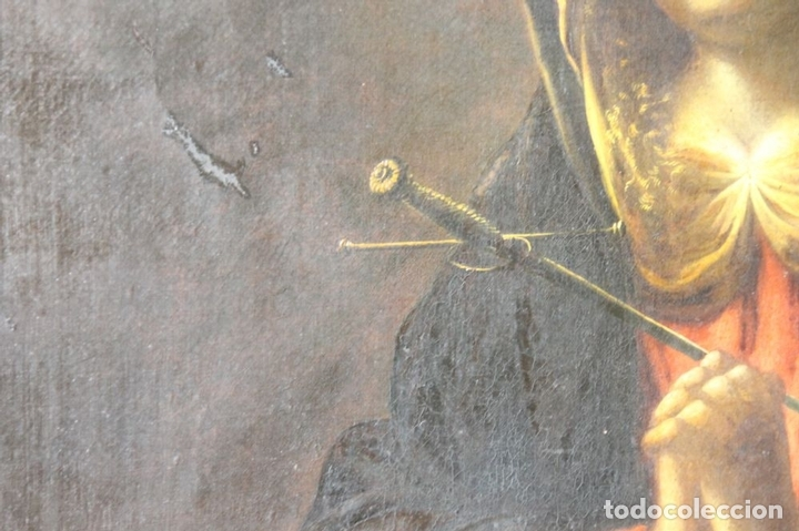 Arte: F3-028. VIRGEN DE LA DOLOROSA. ESCUELA ESPAÑOLA. OLEO SOBRE LIENZO. SIGLO XVII. - Foto 15 - 50187135