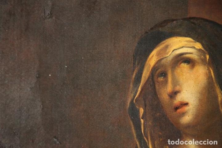 Arte: F3-028. VIRGEN DE LA DOLOROSA. ESCUELA ESPAÑOLA. OLEO SOBRE LIENZO. SIGLO XVII. - Foto 26 - 50187135