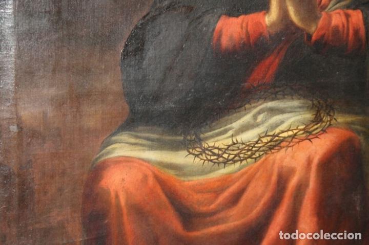 Arte: F3-028. VIRGEN DE LA DOLOROSA. ESCUELA ESPAÑOLA. OLEO SOBRE LIENZO. SIGLO XVII. - Foto 29 - 50187135
