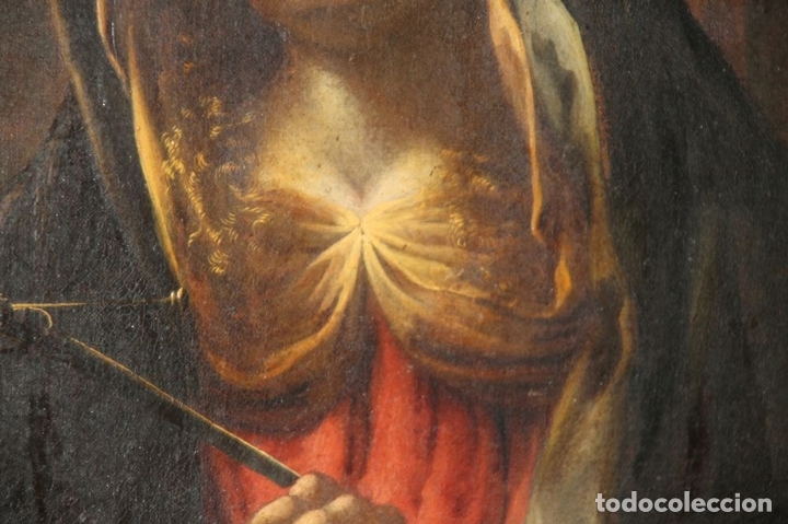 Arte: F3-028. VIRGEN DE LA DOLOROSA. ESCUELA ESPAÑOLA. OLEO SOBRE LIENZO. SIGLO XVII. - Foto 30 - 50187135