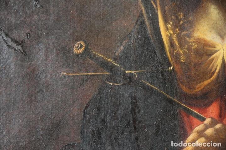 Arte: F3-028. VIRGEN DE LA DOLOROSA. ESCUELA ESPAÑOLA. OLEO SOBRE LIENZO. SIGLO XVII. - Foto 32 - 50187135
