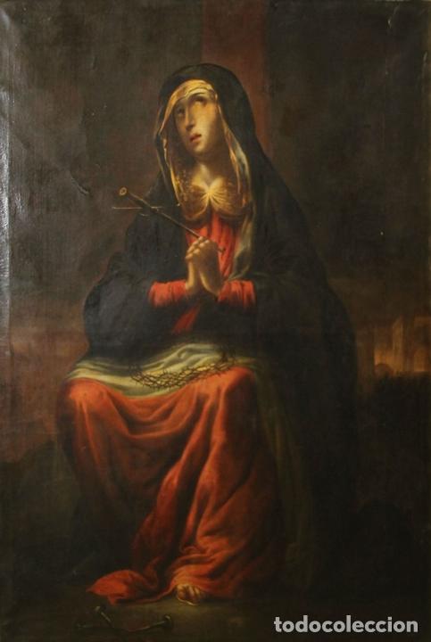 Arte: F3-028. VIRGEN DE LA DOLOROSA. ESCUELA ESPAÑOLA. OLEO SOBRE LIENZO. SIGLO XVII. - Foto 33 - 50187135