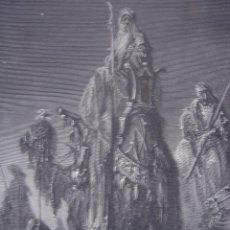 Arte: GRABADO RELIGIOSO, LOS REYES MAGOS, DORÉ-PANNEMAKER-LIGNY, ORIGINAL, BARCELONA,1884, GRAN TAMAÑO. Lote 68240965