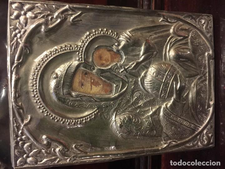 Arte: icono en plata, pintado a mano - Foto 2 - 68335165