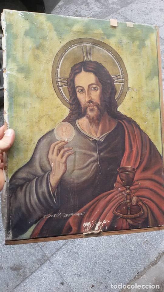 CUADRO CRISTO PINTADO (Arte - Arte Religioso - Pintura Religiosa - Oleo)