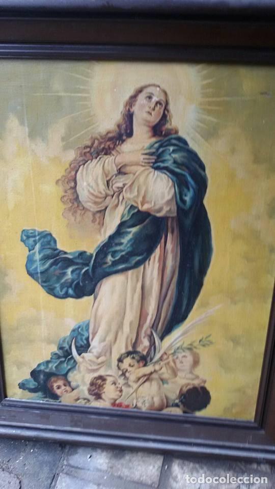 Arte: cuadro virgen antiguo - Foto 2 - 68341509