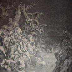 Arte: GRABADO RELIGIOSO, EL DILUVIO UNIVERSAL, DORÉ-PANNEMAKER, ORIGINAL, BARCELONA,1883,GRAN TAMAÑO. Lote 68371101