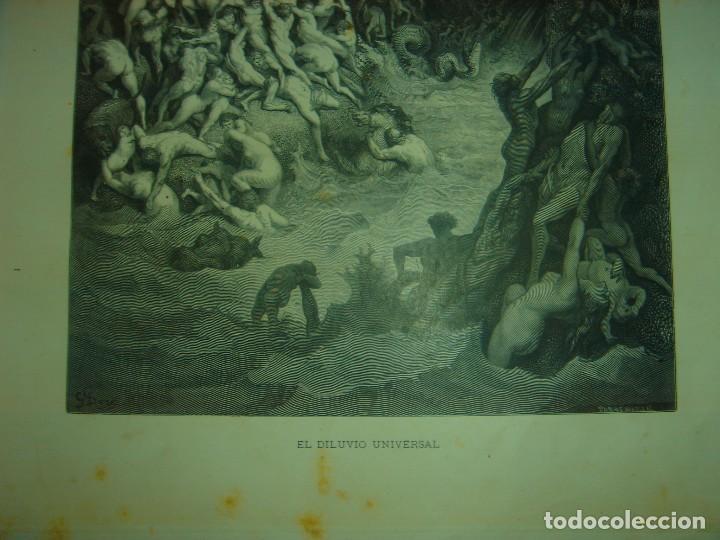 Arte: GRABADO RELIGIOSO, EL DILUVIO UNIVERSAL, DORÉ-PANNEMAKER, ORIGINAL, BARCELONA,1883,GRAN TAMAÑO - Foto 6 - 68371101