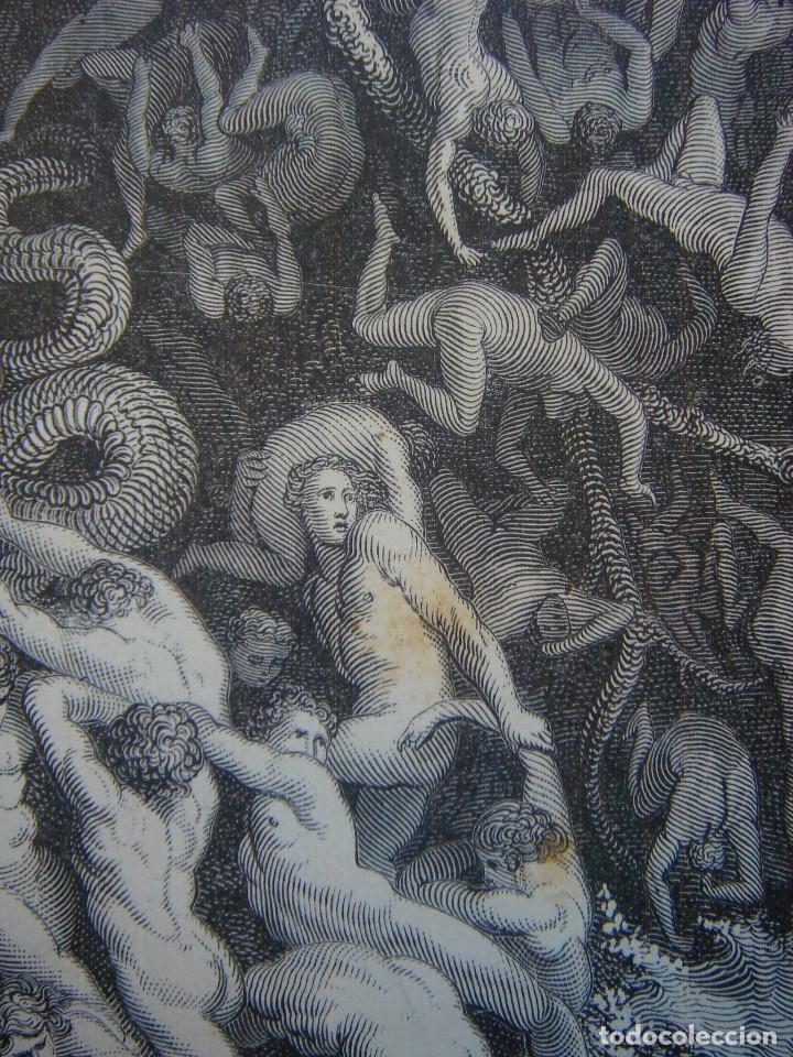 Arte: GRABADO RELIGIOSO, EL DILUVIO UNIVERSAL, DORÉ-PANNEMAKER, ORIGINAL, BARCELONA,1883,GRAN TAMAÑO - Foto 7 - 68371101