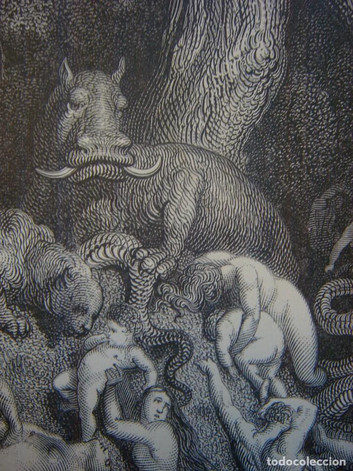 Arte: GRABADO RELIGIOSO, EL DILUVIO UNIVERSAL, DORÉ-PANNEMAKER, ORIGINAL, BARCELONA,1883,GRAN TAMAÑO - Foto 9 - 68371101