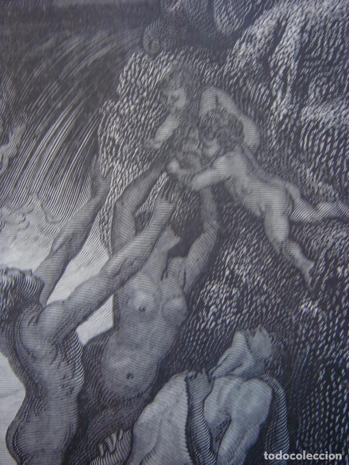 Arte: GRABADO RELIGIOSO, EL DILUVIO UNIVERSAL, DORÉ-PANNEMAKER, ORIGINAL, BARCELONA,1883,GRAN TAMAÑO - Foto 10 - 68371101