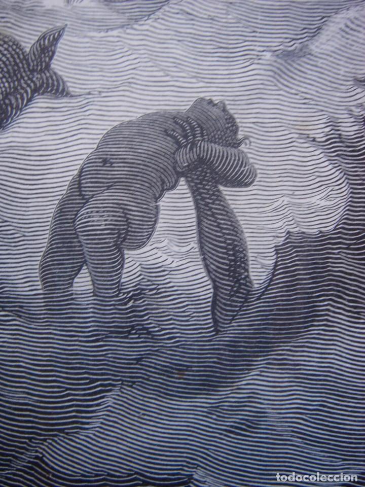 Arte: GRABADO RELIGIOSO, EL DILUVIO UNIVERSAL, DORÉ-PANNEMAKER, ORIGINAL, BARCELONA,1883,GRAN TAMAÑO - Foto 12 - 68371101