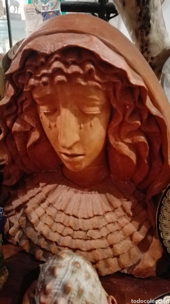 BUSTO VIRGEN TAMAÑO REAL TERRACOTA (Arte - Arte Religioso - Escultura)