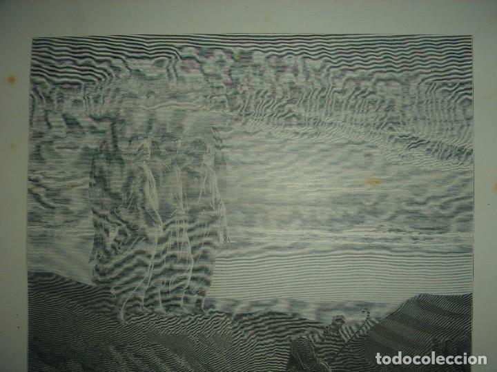 Arte: GRABADO RELIGIOSO,ABRAHAM VISITADO POR LOS ÁNGELES, DORÉ-LIGNY, ORIGINAL, BARCELONA,1883,GRAN TAMAÑO - Foto 4 - 68446393