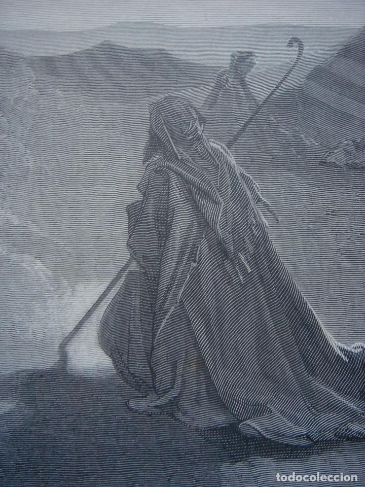 Arte: GRABADO RELIGIOSO,ABRAHAM VISITADO POR LOS ÁNGELES, DORÉ-LIGNY, ORIGINAL, BARCELONA,1883,GRAN TAMAÑO - Foto 8 - 68446393
