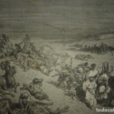 Arte: GRABADO RELIGIOSO, PLAGA DE LA PESTE, DORÉ-PANNEMAKER,ORIGINAL, BARCELONA,1883,GRAN TAMAÑO. Lote 68454893