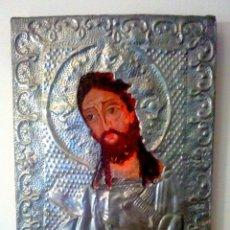 Arte: ANTIGUO ICONO DE CRISTO PINTADO A MANO SOBRE MADERA.. Lote 68538609