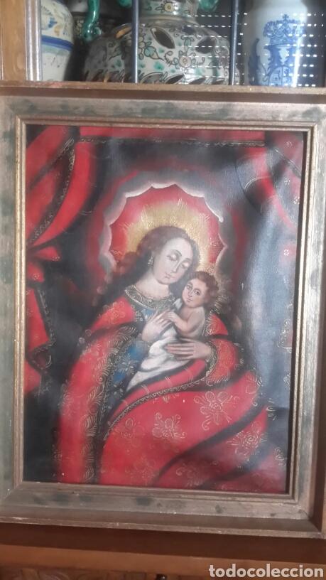 CUADRO CUZQUEÑO (Arte - Arte Religioso - Pintura Religiosa - Oleo)