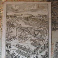 Arte: GRABADO DE BATALLA, CON SU EXPLICACIÓN. ORIGINAL. AÑO 1716.. Lote 139992726