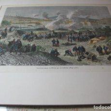 Arte: BOMBARDEO DE BILBAO POR LOS CARLISTAS. AÑO 1874. Lote 68696733