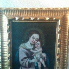 Arte: CUADRO VIRGEN CON NIÑO SIGLO XVIII ÓLEO. Lote 68846166