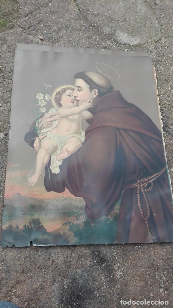 LITOGRAFÍA DE SAN ANTONIO DE PADUA (Arte - Arte Religioso - Litografías)