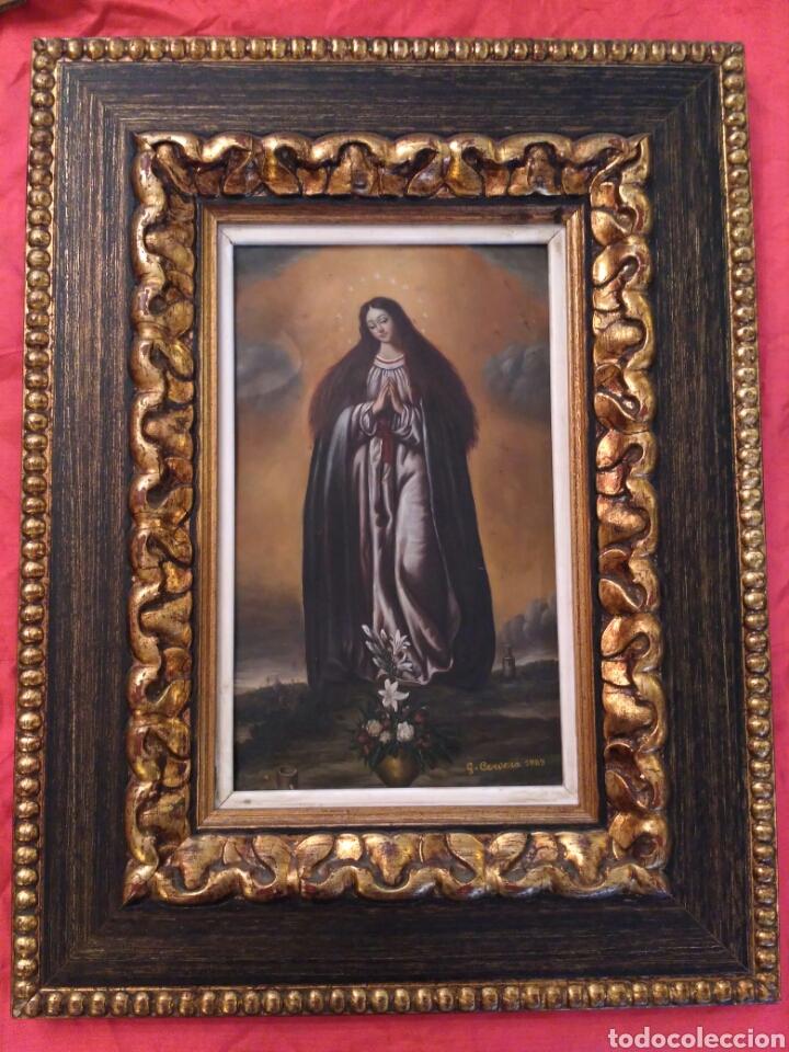INMACULADA, OLEO SOBRE COBRE 1889 (Arte - Arte Religioso - Pintura Religiosa - Otros)