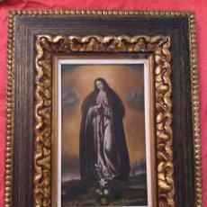 Arte: VIRGEN INMACULADA, OLEO SOBRE COBRE SIGLO XIX. Lote 69051250