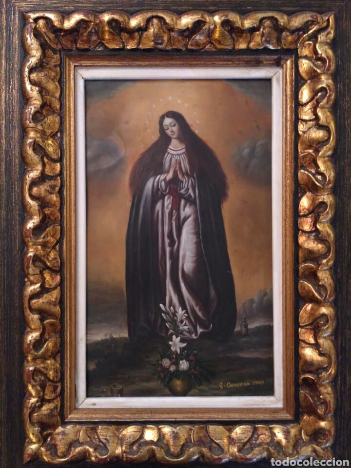 Arte: Inmaculada, oleo sobre cobre 1889 - Foto 2 - 69051250